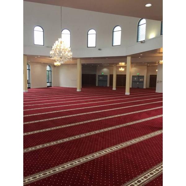 Red Border Masjid Carpet