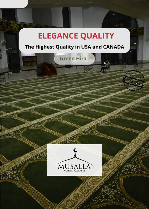 Green Hira Musalla Masjid carpets The top quality Masjid carpet