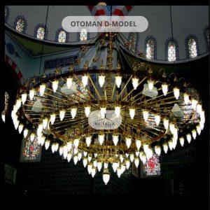 Ottoman D Model Chandelier Musalla Masjid Carpets