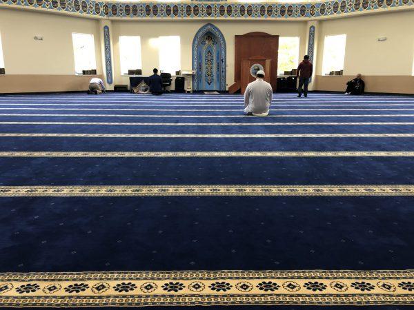 Blue Border Masjid Carpet