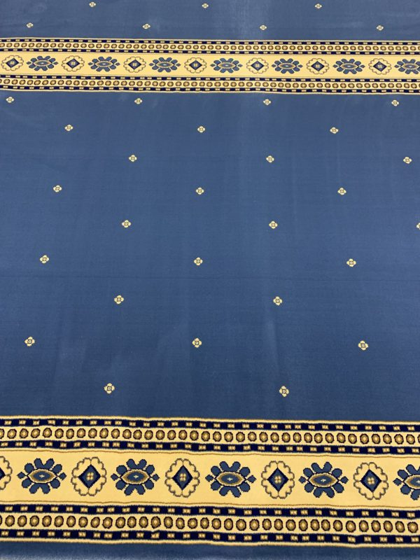 Silky Blue Border Masjid Carpet