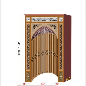 Hand Crafted Wood Mehrab