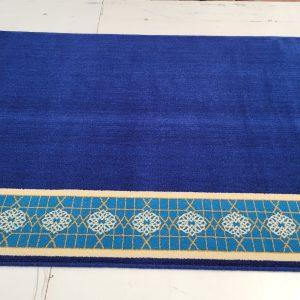 Wool Prayer Carpet - Royal Blue Border